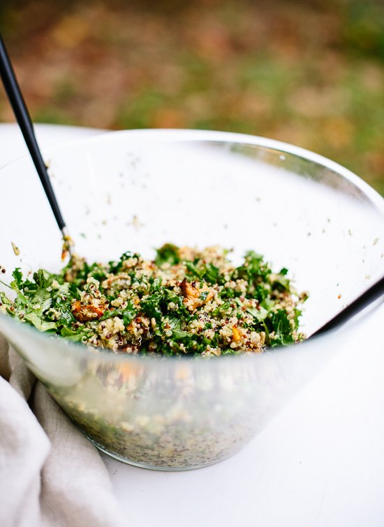Sweet potato, kale and quinoa salad - cookieandkate.com