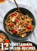 Find 12 hearty vegetarian pasta recipes at cookieandkate.com!