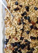 This healthy granola is SO delicious! Find the recipe, plus tips on making it your own, at cookieandkate.com