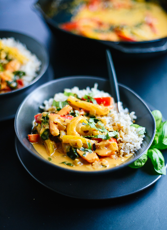 This red thai curry recipe is just as good as your favorite Thai restaurant's! cookieandkate.com
