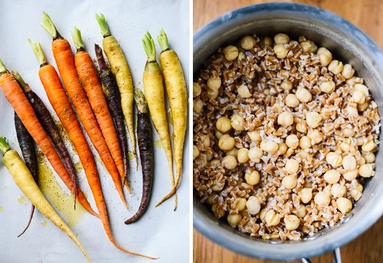roasted carrot salad ingredients