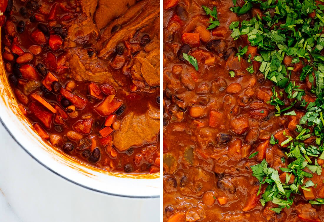 chili texture after blending portion