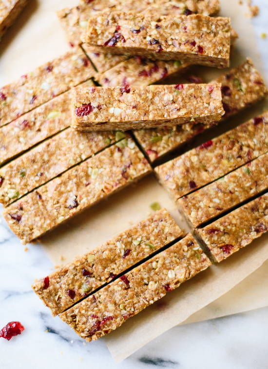 Cranberry Orange Granola Bars   Cookieandkate.com