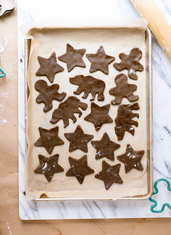 Healthy gingerbread cookies recipe - cookieandkate.com