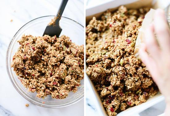 how to make cranberry orange granola bars