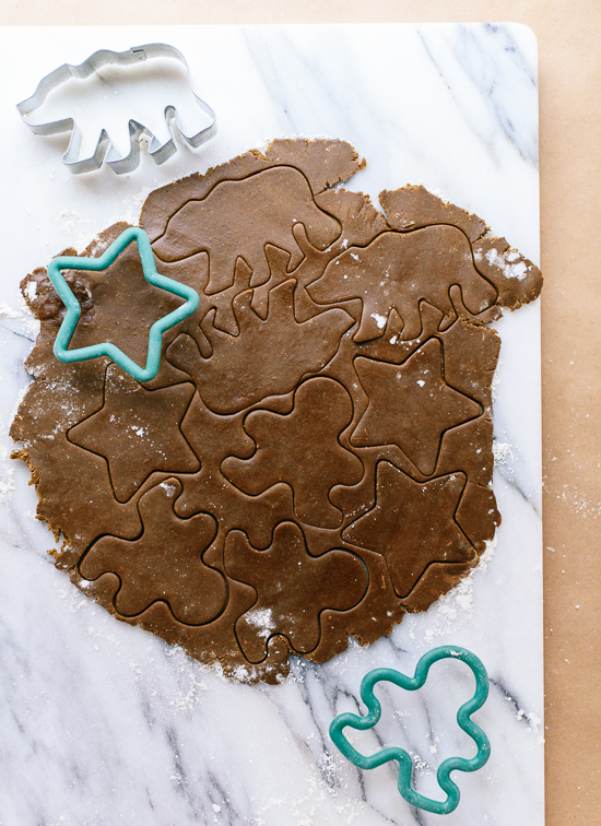 How to make gingerbread cookies - cookieandkate.com