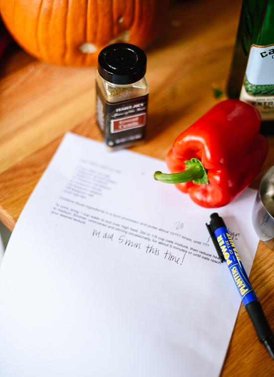 recipe writing