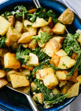 Lemony Roasted Potatoes & Broccoli Rabe