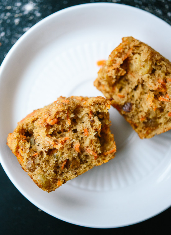 Wholesome carrot muffins that taste amazing! cookieandkate.com
