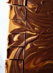 Chocolate peanut butter freezer fudge - cookieandkate.com