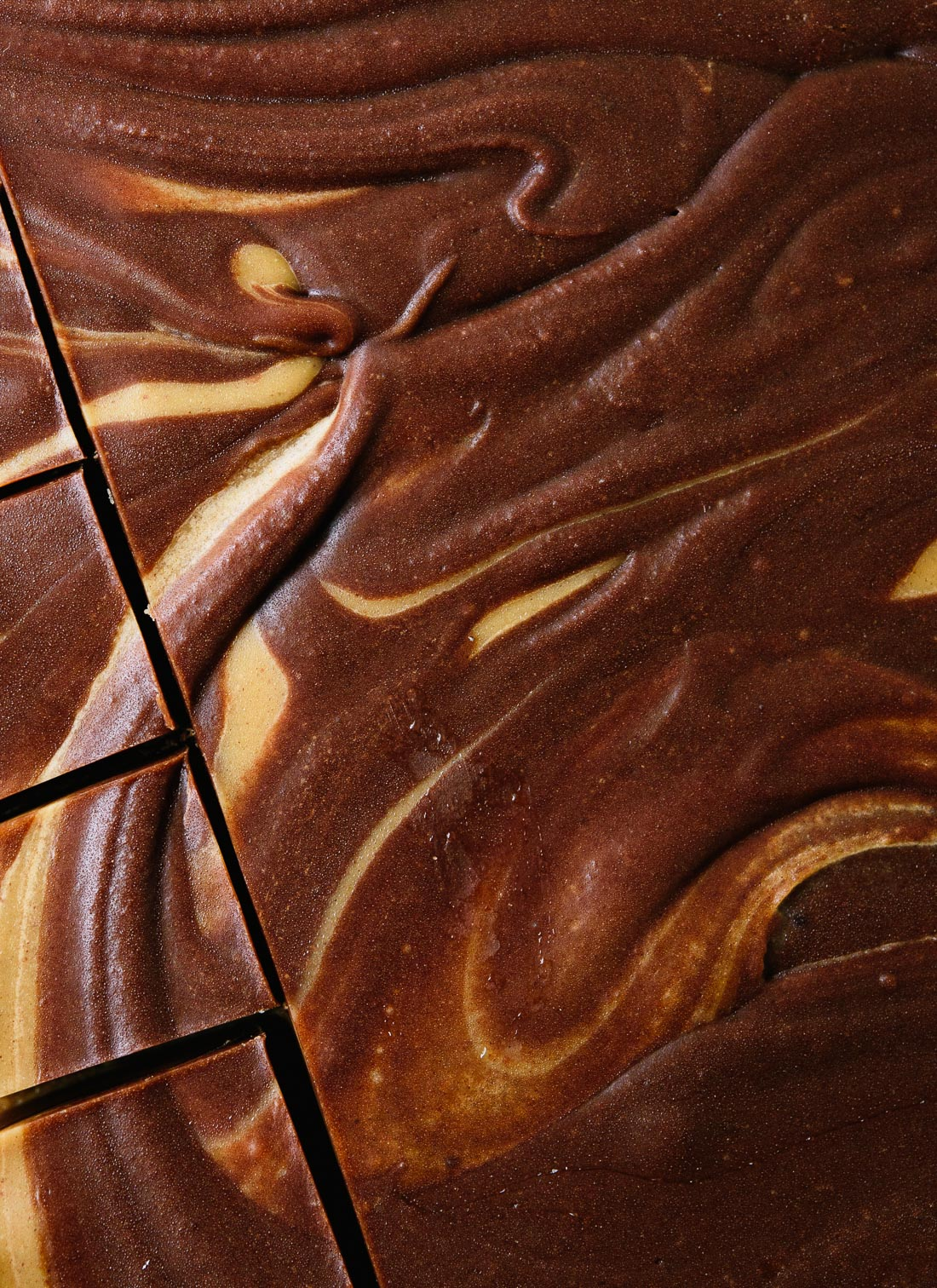 Simple chocolate peanut butter swirl fudge (easy and healthy!) cookieandkate.com