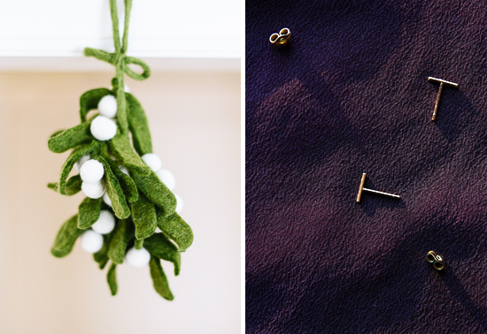 mistletoe and earrings