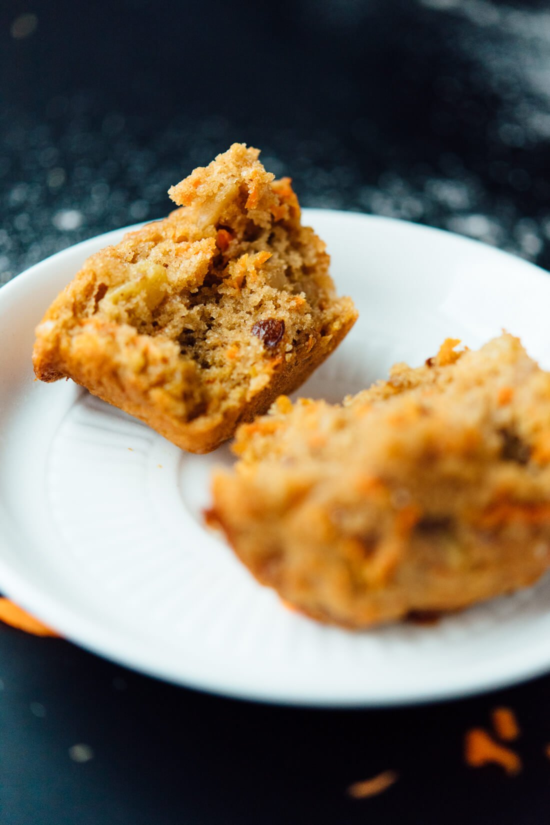 Whole grain, naturally sweetened carrot muffins CAN be delicious!