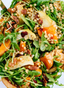 Roasted butternut squash, apple and wheat berry salad recipe - cookieandkate.com