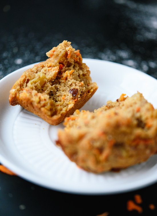 Whole grain, naturally sweetened carrot muffins - cookieandkate.com