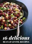 Find 16 amazing recipes made with black beans, chickpeas, lentils and more! All of these recipes are vegetarian but rich in protein thanks to the beans. cookieandkate.com