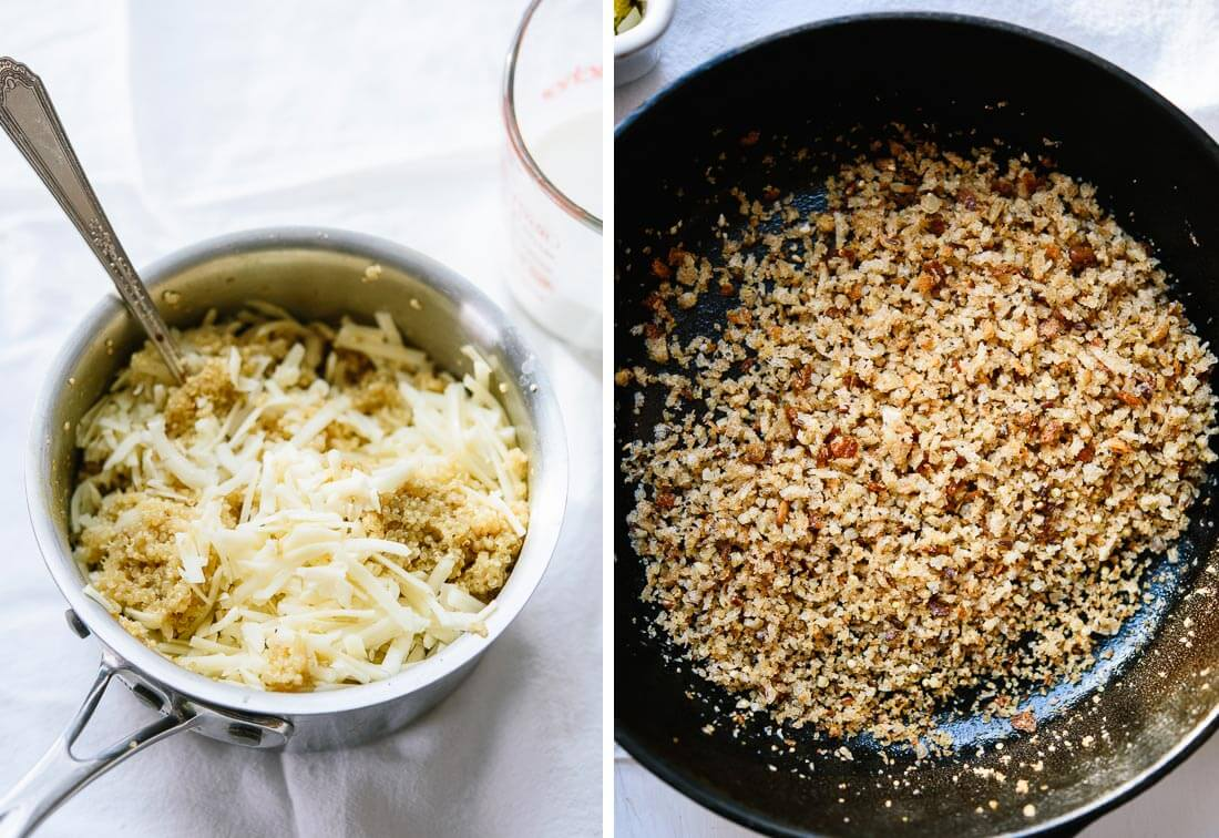 cheesy quinoa and breadcrumbs