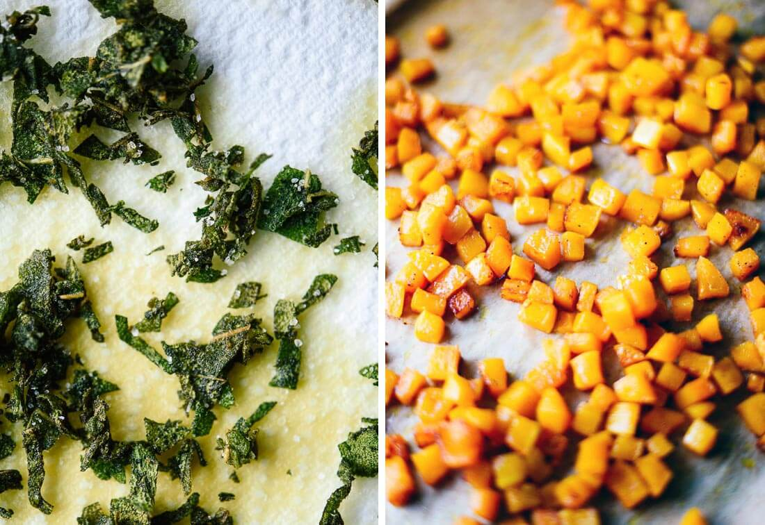 fried sage and roasted butternut