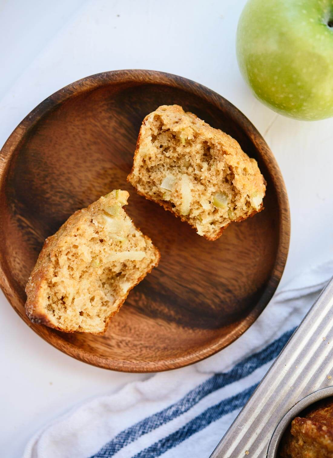 Simple, healthy apple muffins recipe (no crazy ingredients!) - cookieandkate.com