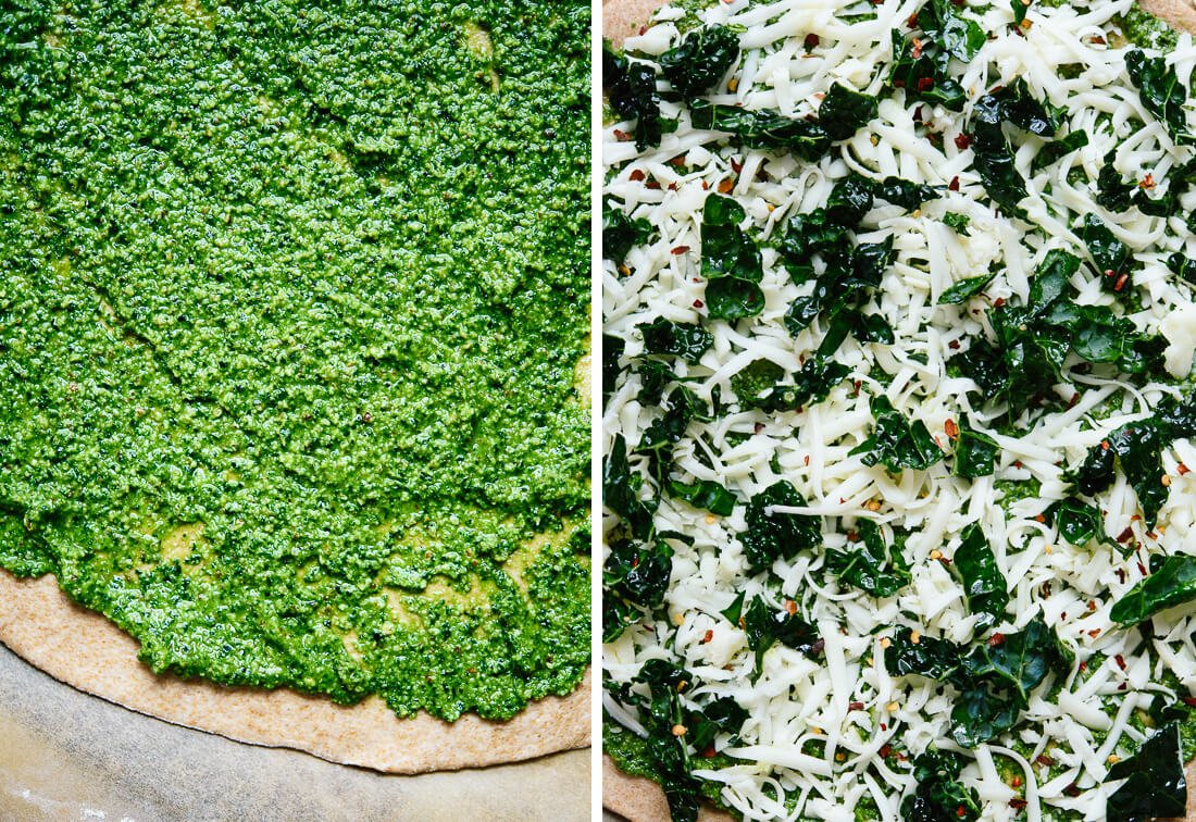 how to make kale pizza