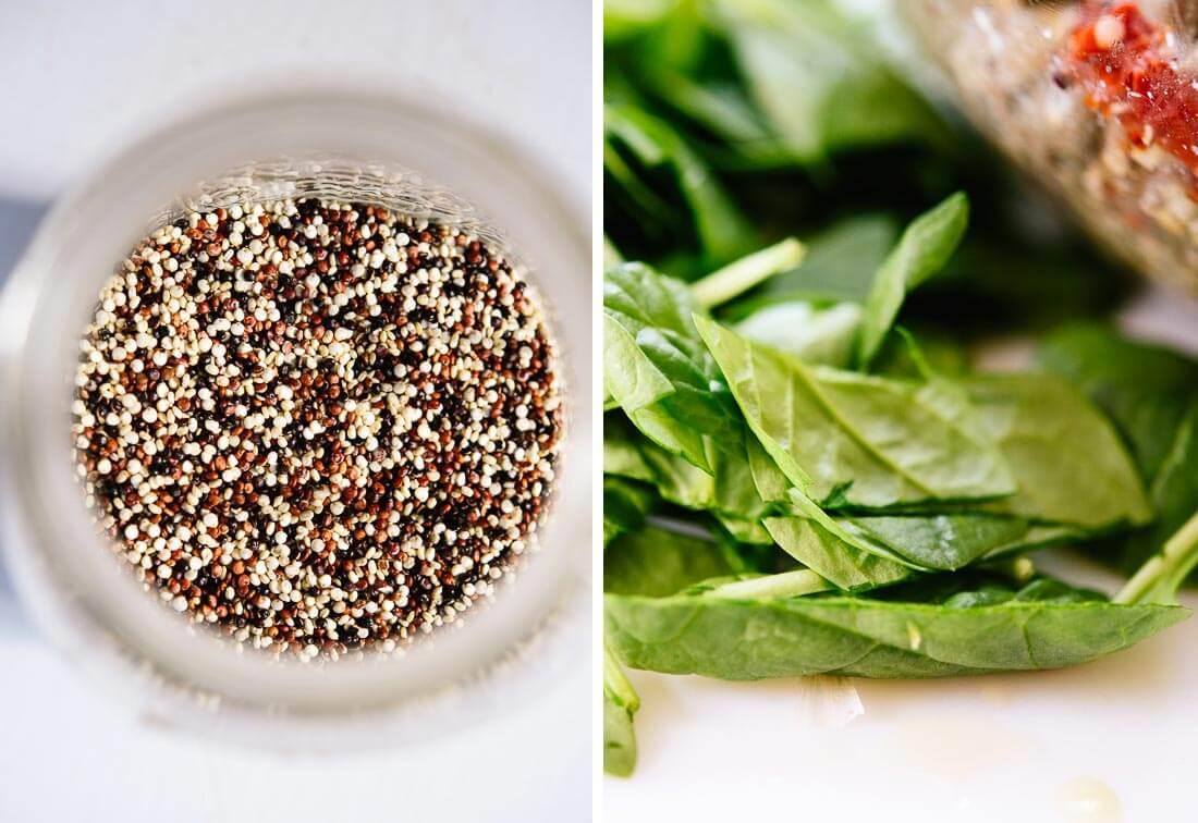 quinoa and spinach
