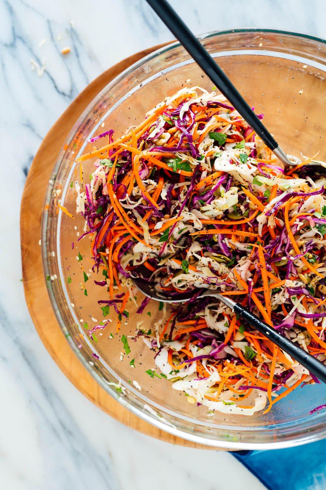 simple healthy coleslaw recipe