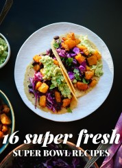 Find 16 super fresh Super Bowl recipes at cookieandkate.com!