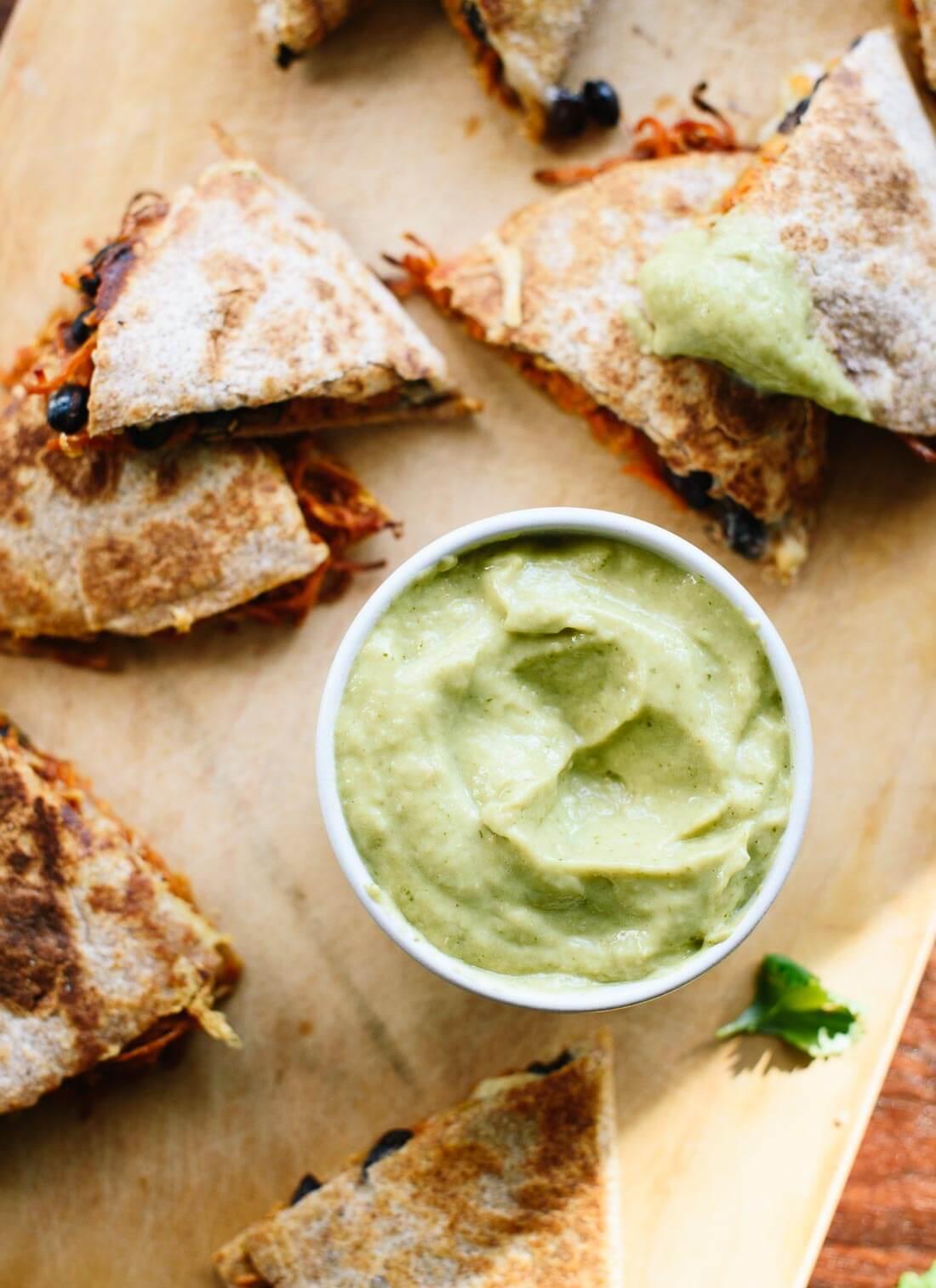 Avocado salsa verde (so good!) - cookieandkate.com