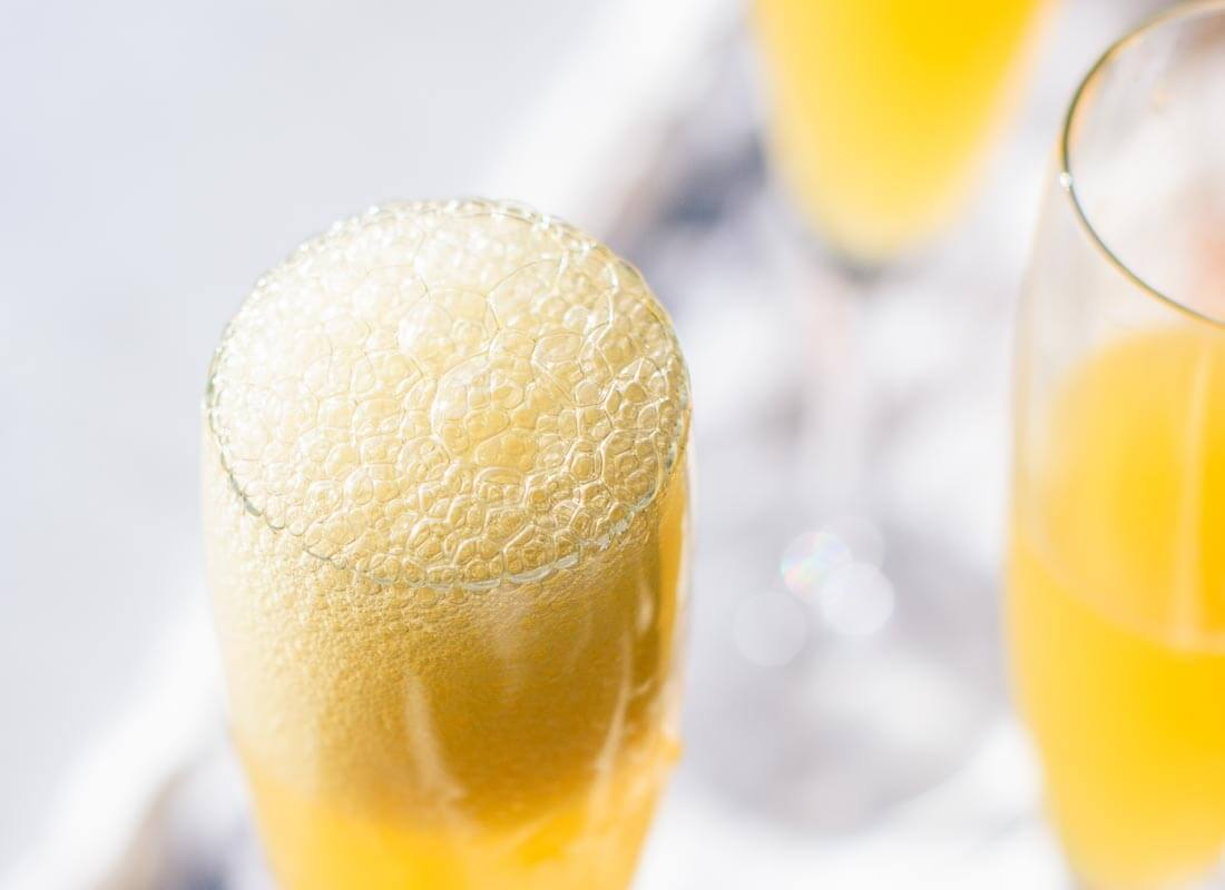 Bubbly clementine French 75