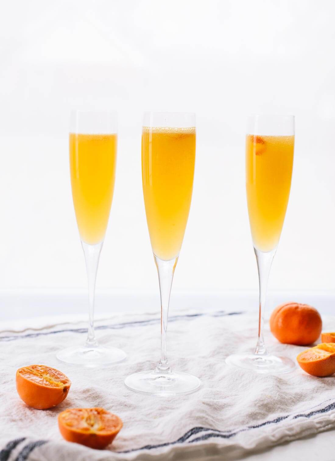 Sunny clementine French 75 cocktails - cookieandkate.com