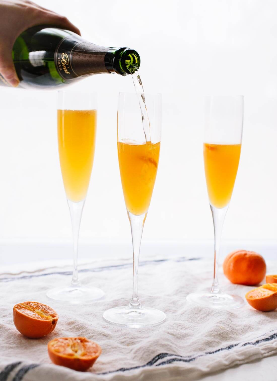 How to make a clementine French 75 - cookieandkate.com