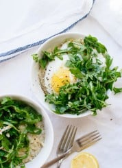 How to make savory steel cut oatmeal (a perfect way to use up leftover veggies on a busy weeknight!) cookieandkate.com