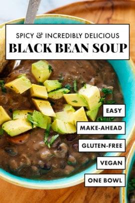 mejor receta de sopa de frijoles negros