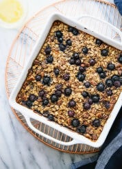 Wholesome baked oatmeal recipe—make one batch and enjoy baked oatmeal for the rest of the week! cookieandkate.com