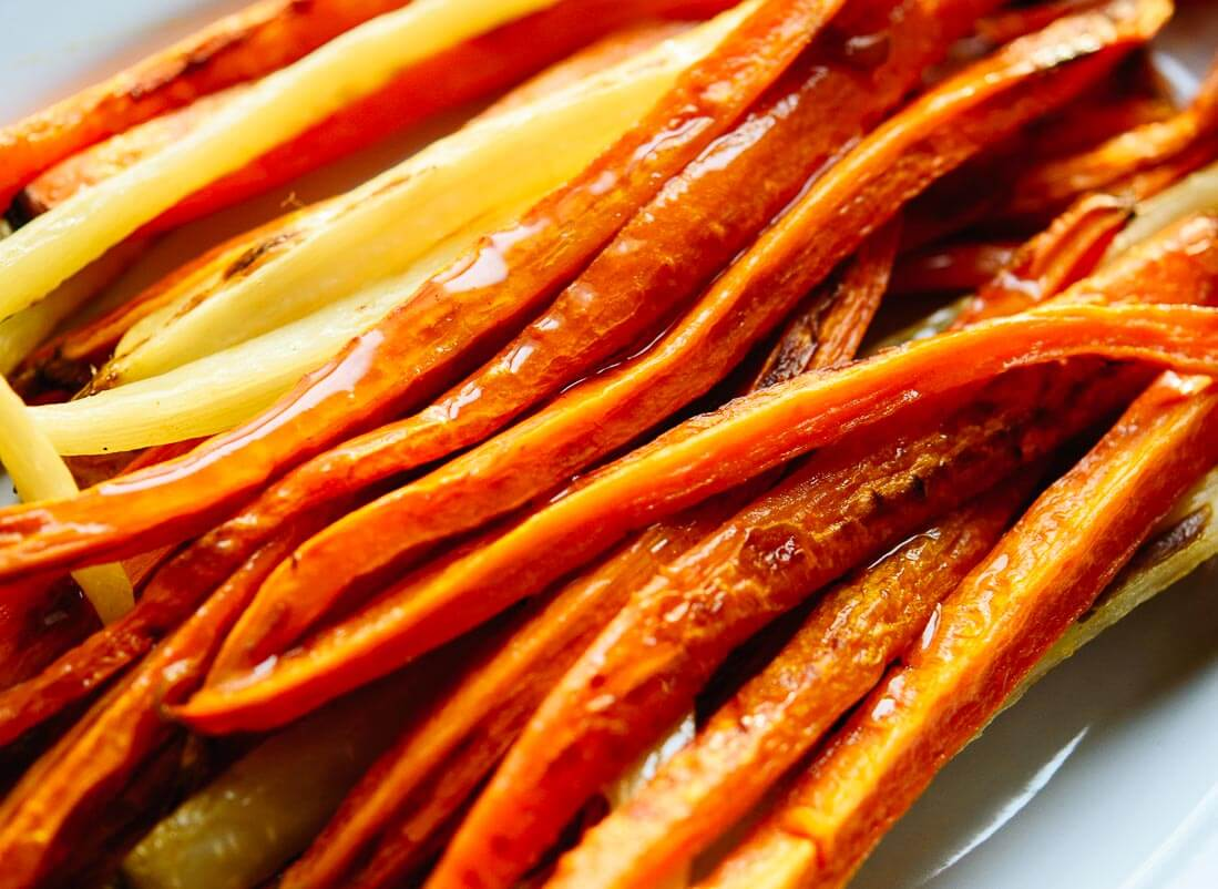 Glazed roasted carrots - cookieandkate.com