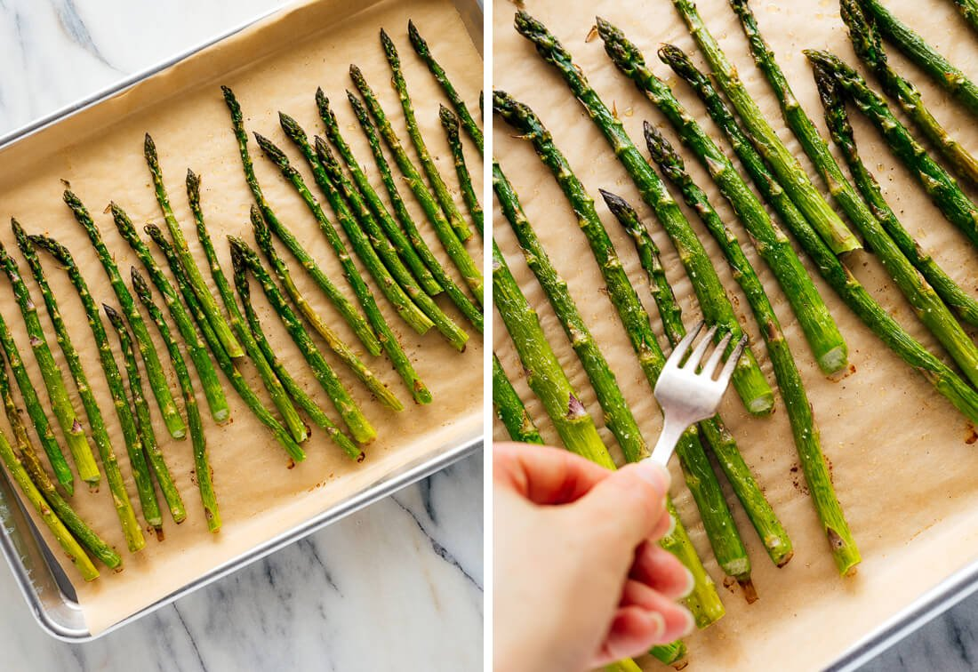 how to test doneness of asparagus