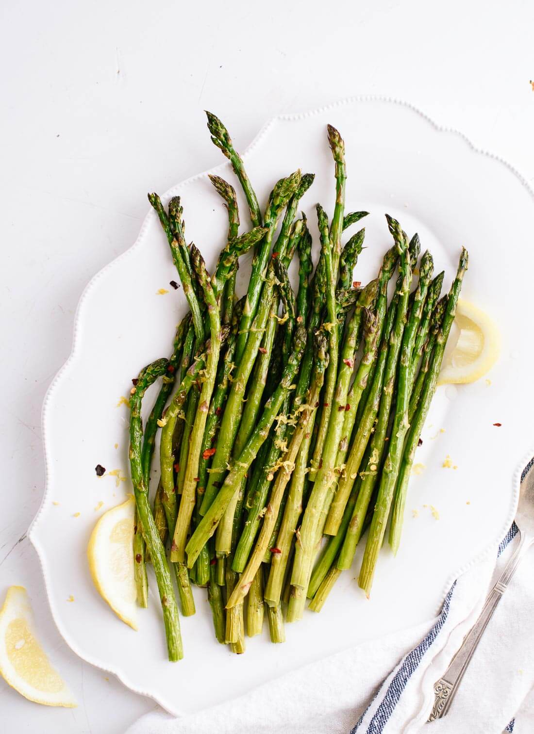 Lemon roasted asparagus, so simple and so good! - cookieandkate.com
