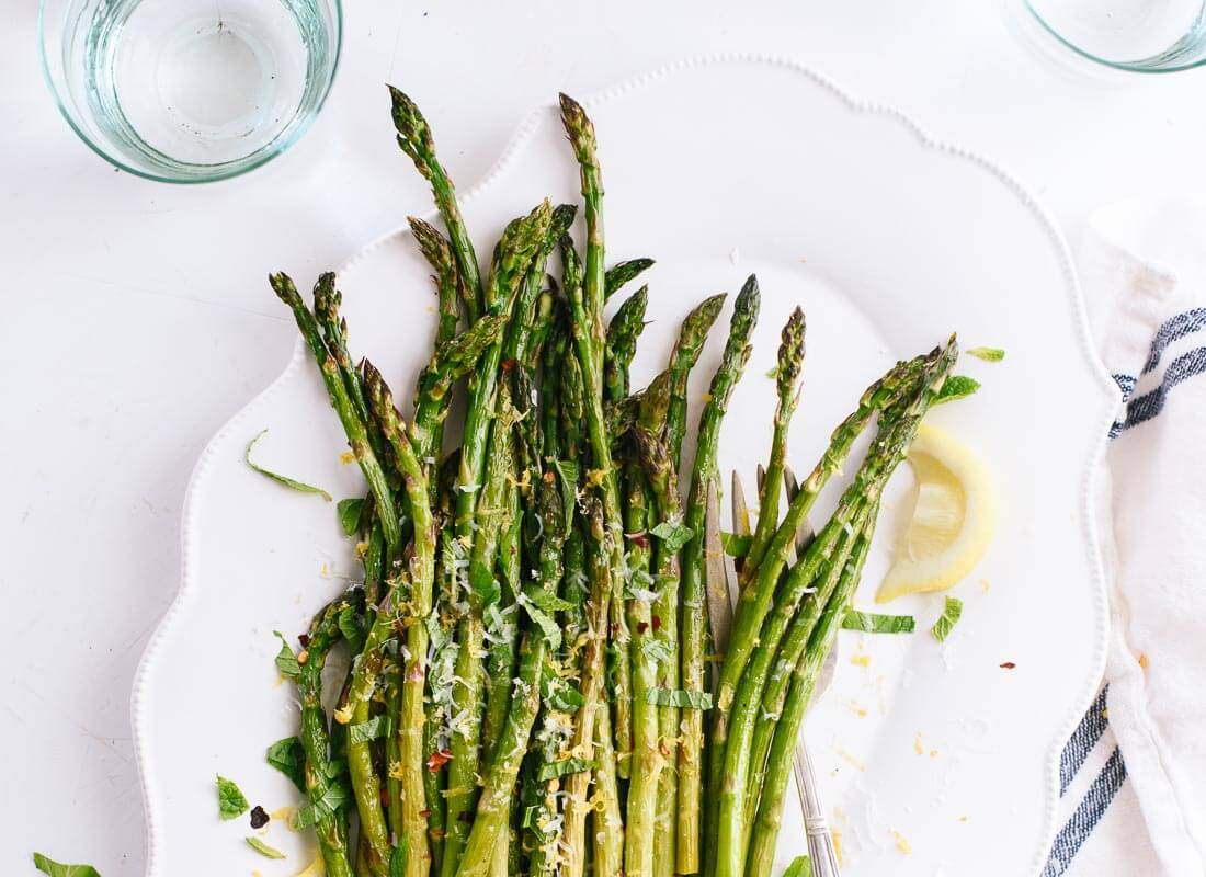 Roasted asparagus with lemon - cookieandkate.com