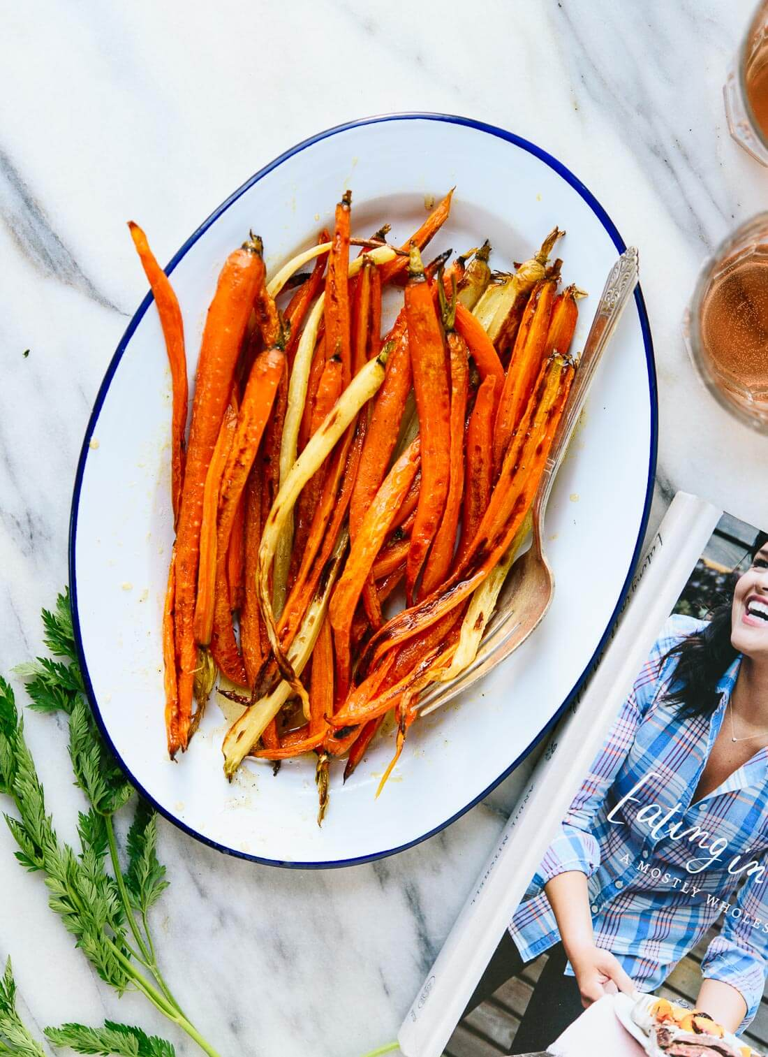 Roasted carrots with honey butter, a light, simple and irresistible side dish! cookieandkate.com