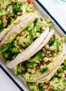 Here's a fresh lunch recipe! Broccoli chickpea pita sandwiches with avocado - cookieandkate.com