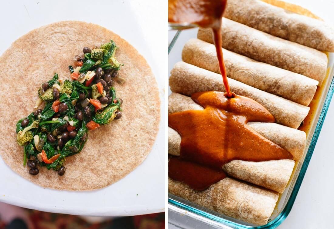 how to make vegetable enchiladas
