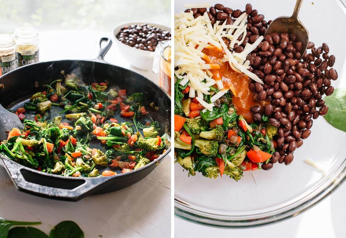 vegetables and black beans