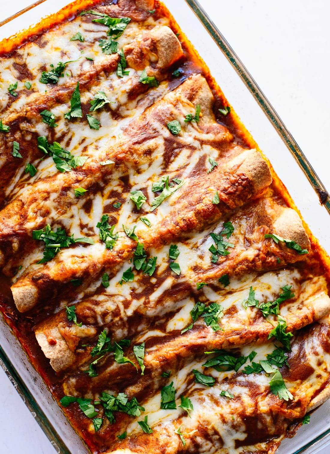 veggie black bean enchiladas are a healthy vegetarian enchilada ...