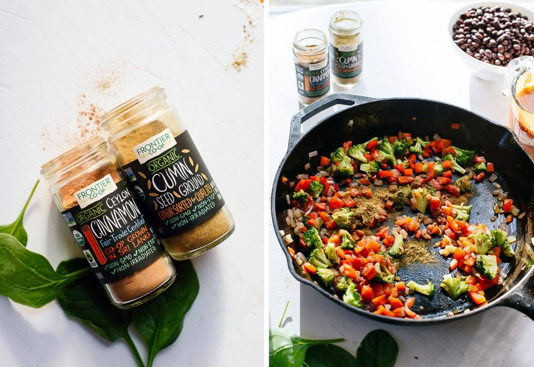 veggie enchilada filling