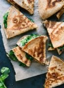 Broccoli Rabe and Black Bean Quesadillas