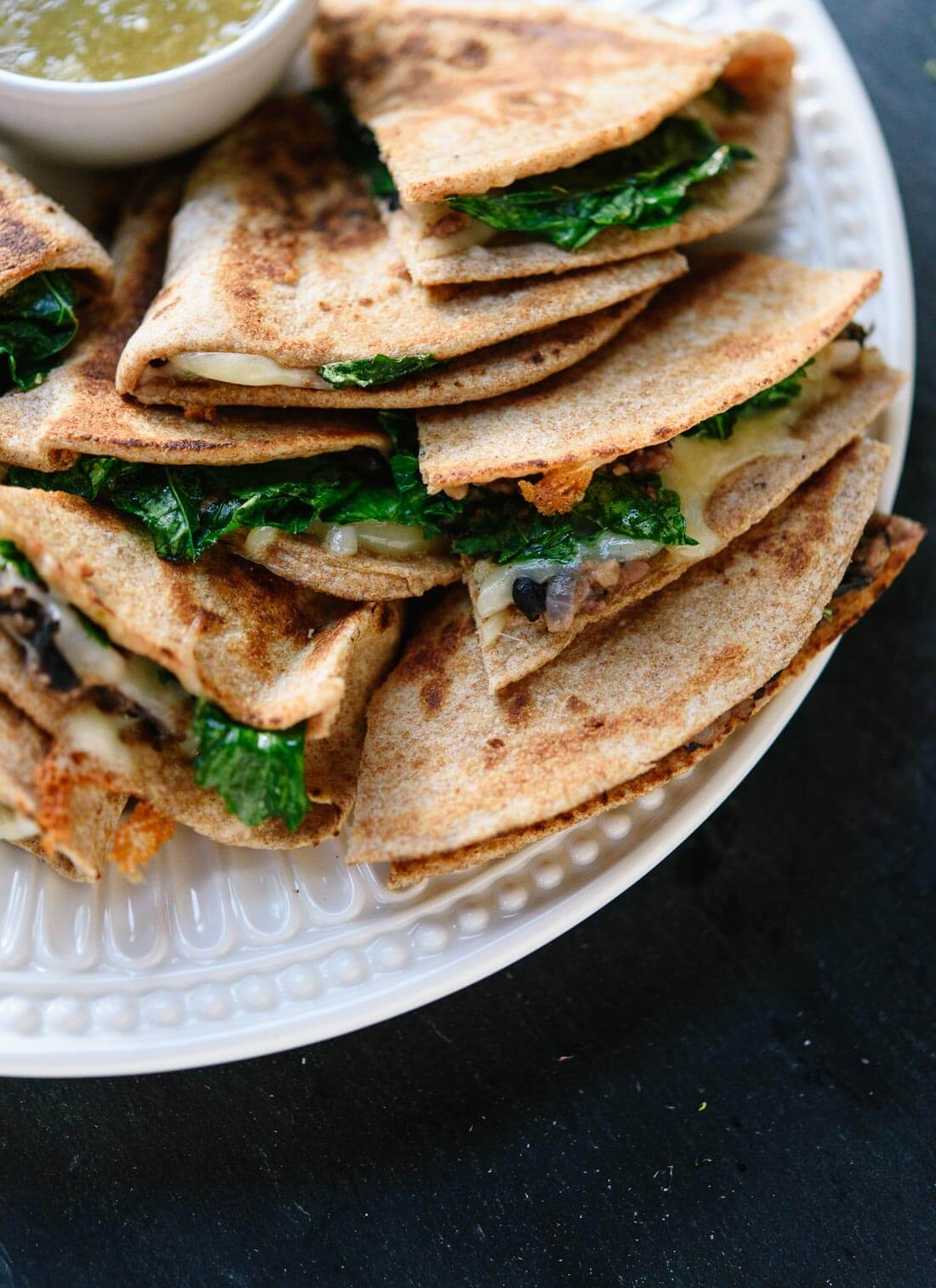 Hearty and fresh broccoli rabe quesadillas - cookieandkate.com