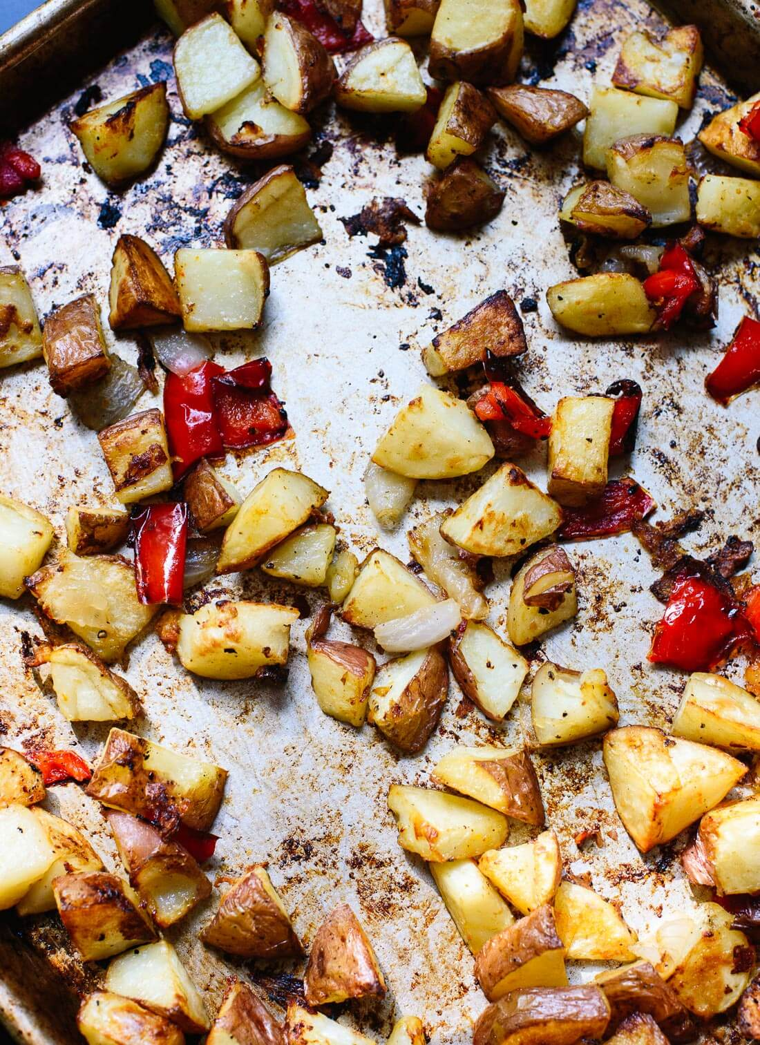 Ultra crispy baked home fries! These are a great addition to your breakfast or brunch. cookieandkate.com