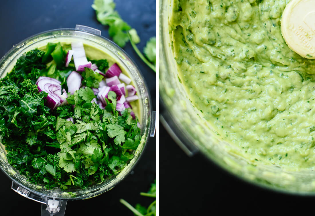how to make kale guacamole