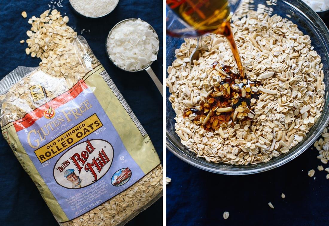 coconut granola ingredients