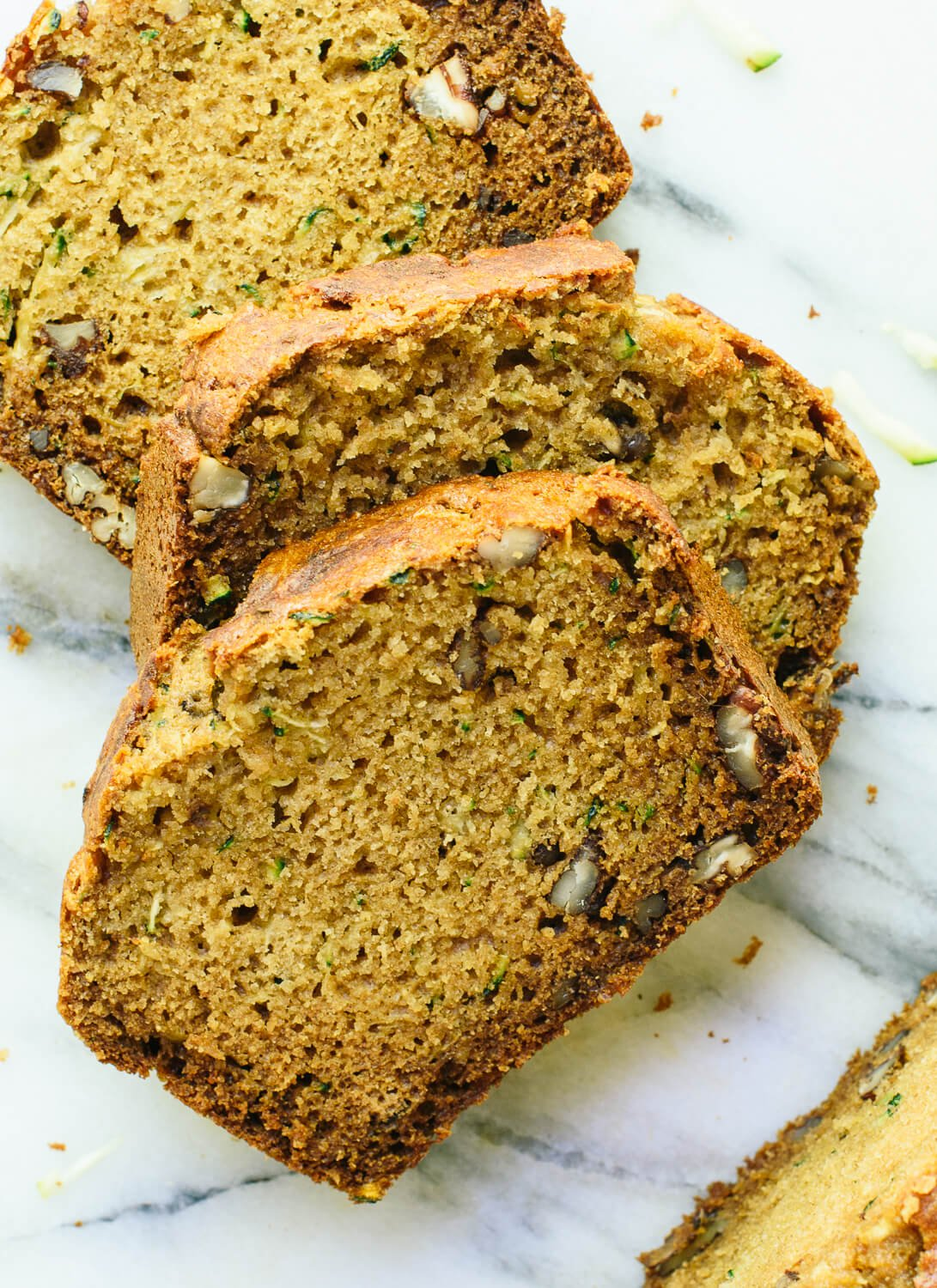 Healthy zucchini bread recipe cookie and kate fluffy and moist zucchini bread made healthier with whole grains natural sweetener honey forumfinder Image collections